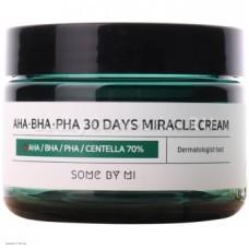 Крем для проблемной кожи с кислотами и центеллой Some By Mi AHA BHA PHA 30 Days Miracle Cream