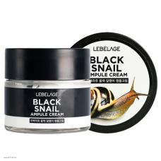 Ампульный крем с экстрактом чёрной улитки Lebelage Ampule Cream Black Snail 70мл