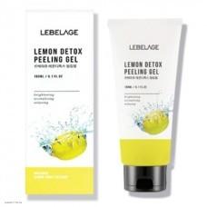 Пилинг скатка  с экстрактом лимона Lebelage Lemon Detox Peeling Gel 180мл