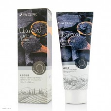 Пенка с углем 3W Clinic Charcoal Foam Cleansing Anti Sebum 100мл