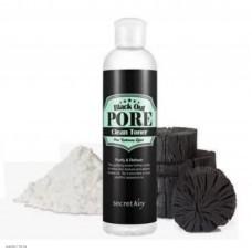 Тонер с древесным углем для очищения и сужения пор SECRET KEY Black Out Pore Clean Toner 250ml