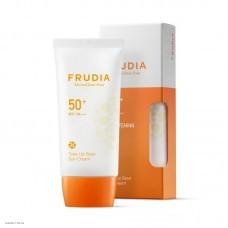 Солнцезащитная тональная крем-основа Frudia Tone Up Base Sun Cream Spf50+ Pa+++ 50гр