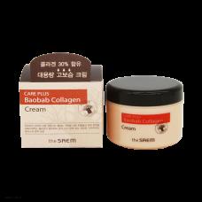 Коллагеновый крем с экстрактом баобаба THE SAEM Care Plus Baobab Collagen Cream 100мл