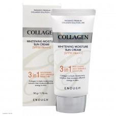 Осветляющий увлажняющий солнцезащитный крем с коллагеном ENOUGH Collagen Whitening Moisture Sun Cream SPF50+ PA+++ 50гр