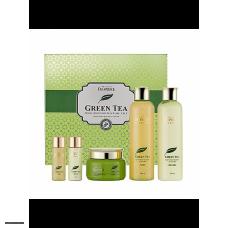 Набор уходовый с экстрактом зеленого чая DEOPROCE Premium Green Tea Total Solution 3 Set