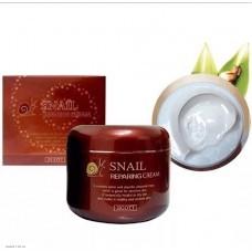 Восстанавливающий крем с муцином улитки  JIGOTT Snail Reparing Cream 100мл