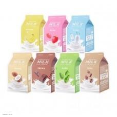 Тканевая маска с натуральными экстрактами A'PIEU Milk One-Pack 1шт