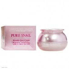 Омолаживающий крем с муцином улитки BERGAMO Pure Snail Wrinkle Care Cream 50мл