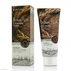 Пенка для умывания с экстрактом коричневого риса 3W Clinic Brown Rice Foam Cleansing 100мл
