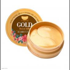 Гидрогелевые патчи для кожи вокруг глаз с золотом и маточным молочком KOELF Gold & Royal Jelly Hydro Gel Eye Patch 60шт