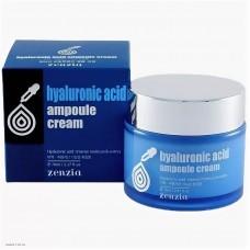 Увлажняющий крем для лица с гиалуроновой кислотой  ZENZIA Hyaluronic Acid Ampoule Cream 70мл