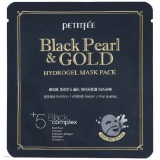 Гидрогелевая маска для лица с черным жемчугом Petitfee Black Pearl & Gold Hydrogel Mask Pack 1шт