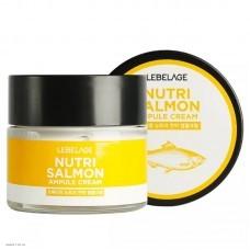 Ампульный крем с маслом лосося LEBELAGE Ampule Cream Nutri Salmon 70мл