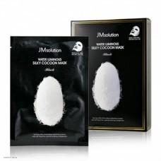 Маска для упругости кожи с протеинами шелка JMsolution Water Luminous Silky Cocoon Mask Black 1шт