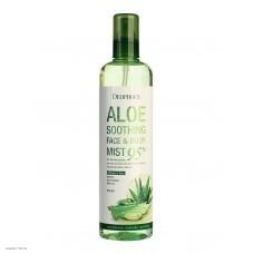 Успокаивающий спрей с 95% алоэ вера для лица и тела DEOPROCE Aloe Soothing Face & Body Mist 95% 410мл