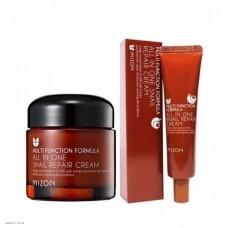 Многофункциональный восстанавливающий крем с экстрактом слизи улитки MIZON All In One Snail Repair Cream 35мл/75мл