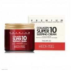Омолаживающий ночной крем для лица с коллагеном MEDI-PEEL Collagen Super10 Sleeping Cream 70мл