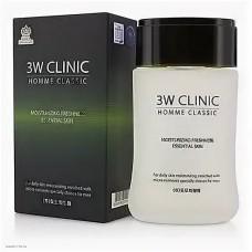 Мужской увлажняющий освежающий тоник 3W Clinic Homme Classic Moisturizing Freshness Essential Skin 150мл